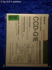 Sony Bedienungsanleitung CCD G1E Video Camera Recorder (#3112)