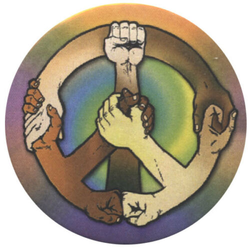 B460 Hands of Peace Button
