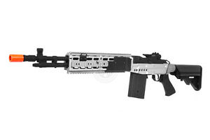 400 FPS CYMA Full Metal M14 EBR Airsoft Enhanced Battle ... M14 Ebr Silver