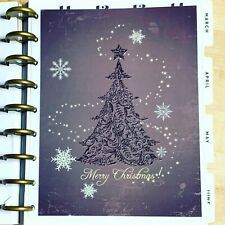 Glam Purple Christmas Tree Holiday Dashboard For Use With Happy Planner
