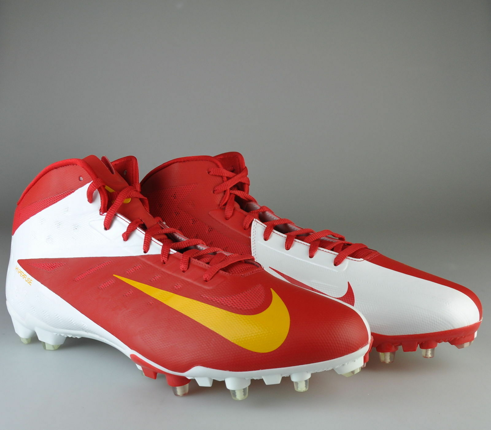 NEW NIKE VAPOR ELITE 3/4 FOOTBALL 534771-616 CLEATS SIZE 15 RED KC CHIEFS  Special limited time