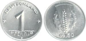 GDR 1 Pfennig 1950 E Fresh Mint Condition