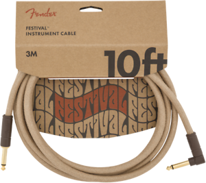Fender-Festival-Instrument-Guitar-Cable-Eco-Friendly-Pure-Hemp-NATURAL-10-039-ft
