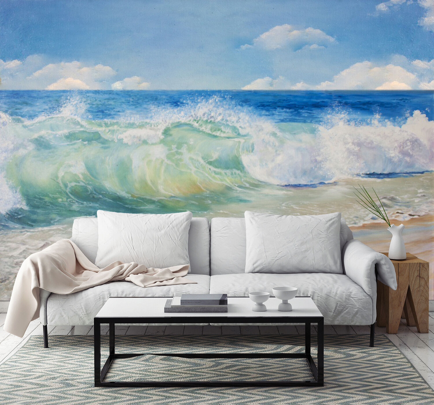 3D Beach Tide Wave 3002 Paper Wall Print Wall Decal Wall Deco Indoor Murals