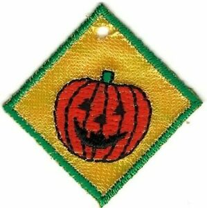 Jack-o-Lantern Pumpkin Halloween Square Charm Patch
