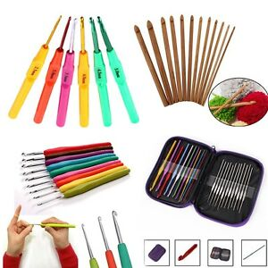 Colorful-Aluminum-Metal-Plastic-Bamboo-Crochet-Hooks-Yarn-Knitting-Needles-Set