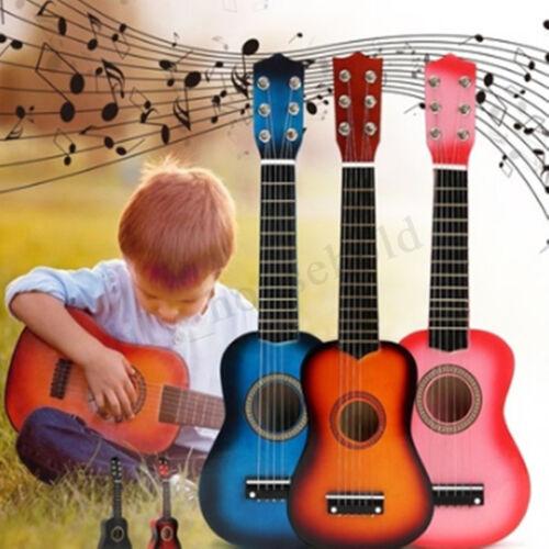 21/'/' Kinder Mini Holz Gitarre Lerninstrument Akustische Musik Spielzeug Geschenk