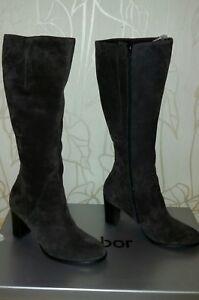 Gabor Stiefel schwarz Leder Gr. 39 (UK 6) | Damenschuhe