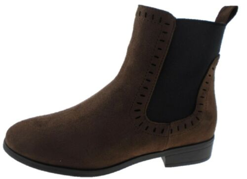 Ladies EO Brown Black Double Gusset Chelsea Boot Pixi Boot Ankle Boot Size 3-8