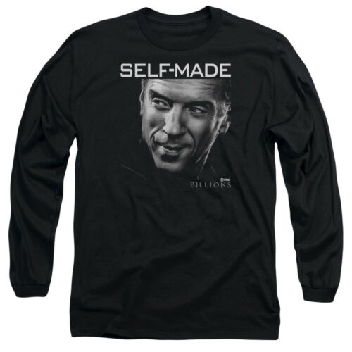 Billions TV Show SELF MADE Licensed Adult Long Sleeve T-Shirt S-3XL