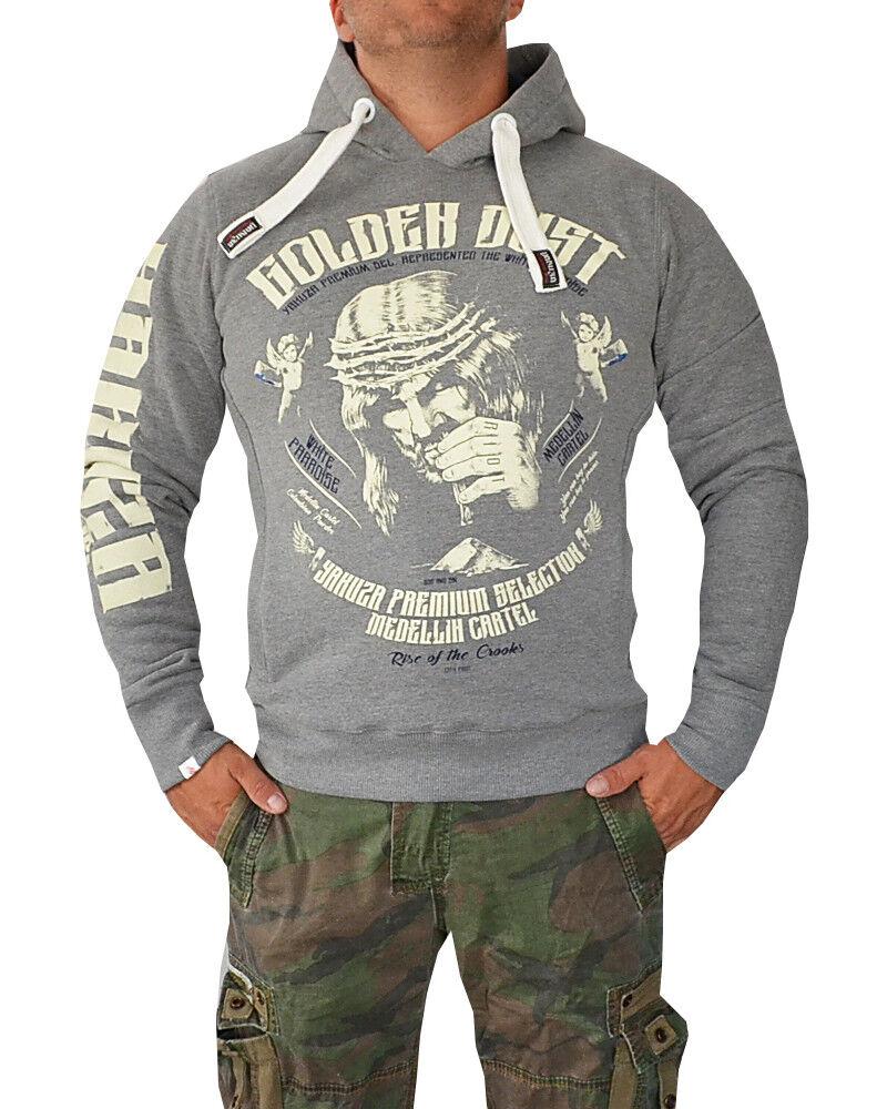 Details zu Yakuza Premium Hoodie Pullover Sweatshirt 2522 GOLDEN DUST grau M L XL XXL XXXL