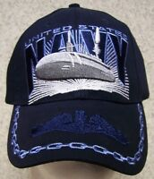 Embroidered Baseball Cap Military Navy Submarine Service NEW 1 hat size fits all