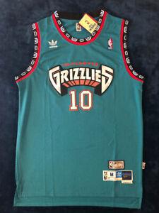 Mike-Bibby-Vancouver-Grizzlies-MEN-039-S-Teal-10-Mens-Jersey-Sz-S-2XL