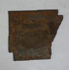 6 Inch Arkansas Ar State Shape Rusty Metal Vintage Stencil Ornament Craft