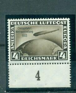 Deutsches-Reich-Zeppelin-ueber-Weltkugel-Nr-498-Falz-geprueft-BPP
