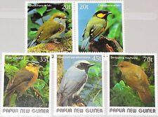 PAPUA NEUGUINEA NEW GUINEA 1989 597-01 715-19 Small Birds Vögel Fauna MNH
