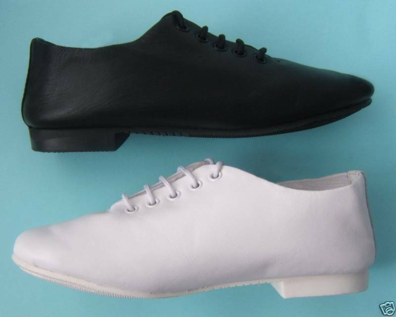 Jazz Shoes. Leather, Full Sole. All sizes .White or Black ***NEW***