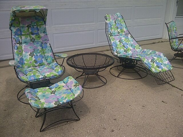 Vintage Wire Patio Chairs | Mid Century Outdoor Furniture And Accessories Collection On Ebay