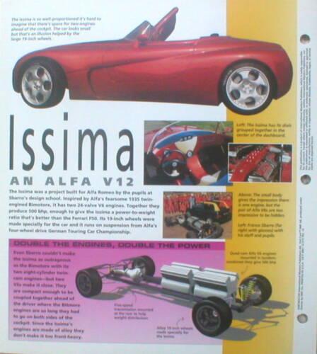 SBARRO CONCEPT CAR/'s Brochure Franco Sbarro,Chrono,