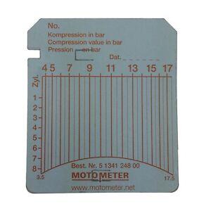 Diagramm-Blätter MOTOMETER 100 Stk. 3,5 - 17,5 bar Kompressionsdruck ...