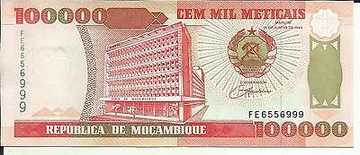 Mozambique 100000 Meticai Bundle Lot 100 PCS P-139 1993 UNC 1994 banknotes