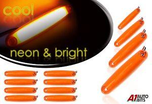 12 x Led Arancione Neon Luci di Posizione Laterali 12v Ambra Fari