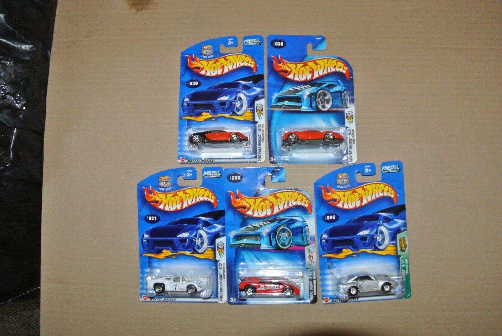 2003 Hot Wheels Coches Conjunto de 5