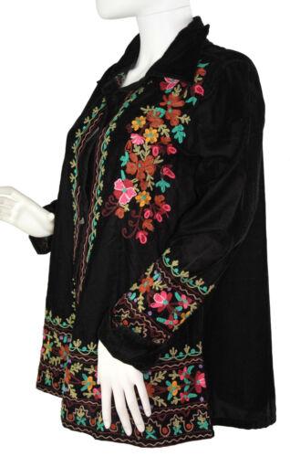 nero piccola per taglia floreale indossare giacca ricamato colore Anu multi 6x1FqZBn