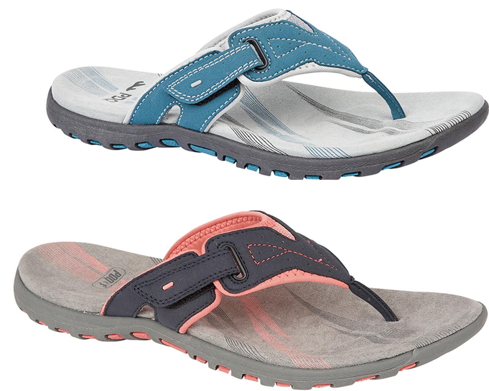 Womens Casual Sandals Summer Toe Post Flexi Sole Slip On Sandal Mules