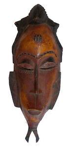 SûR Masque Africain Gouro De Cote D'ivoire Art Afrique Excellent Effet De Coussin