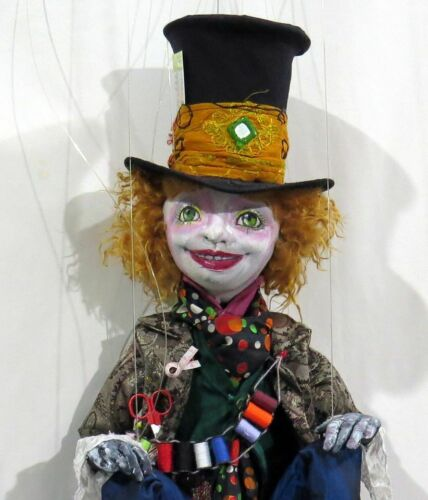 """Cloth Art Doll Pattern//Tutorial CD /""""Boho Hatter Marionette/"""" By Sharon Mitchell"""