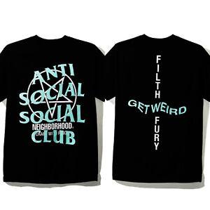3b3738ac6 Anti Social Social Club X Neighborhood Filth Fury Black Tee Size ...