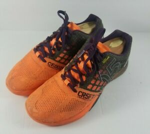 REEBOK-Crossfit-Nano-05-Kevlar-Training-Lifting-Womens-Shoes-Black-Orange-Size-9