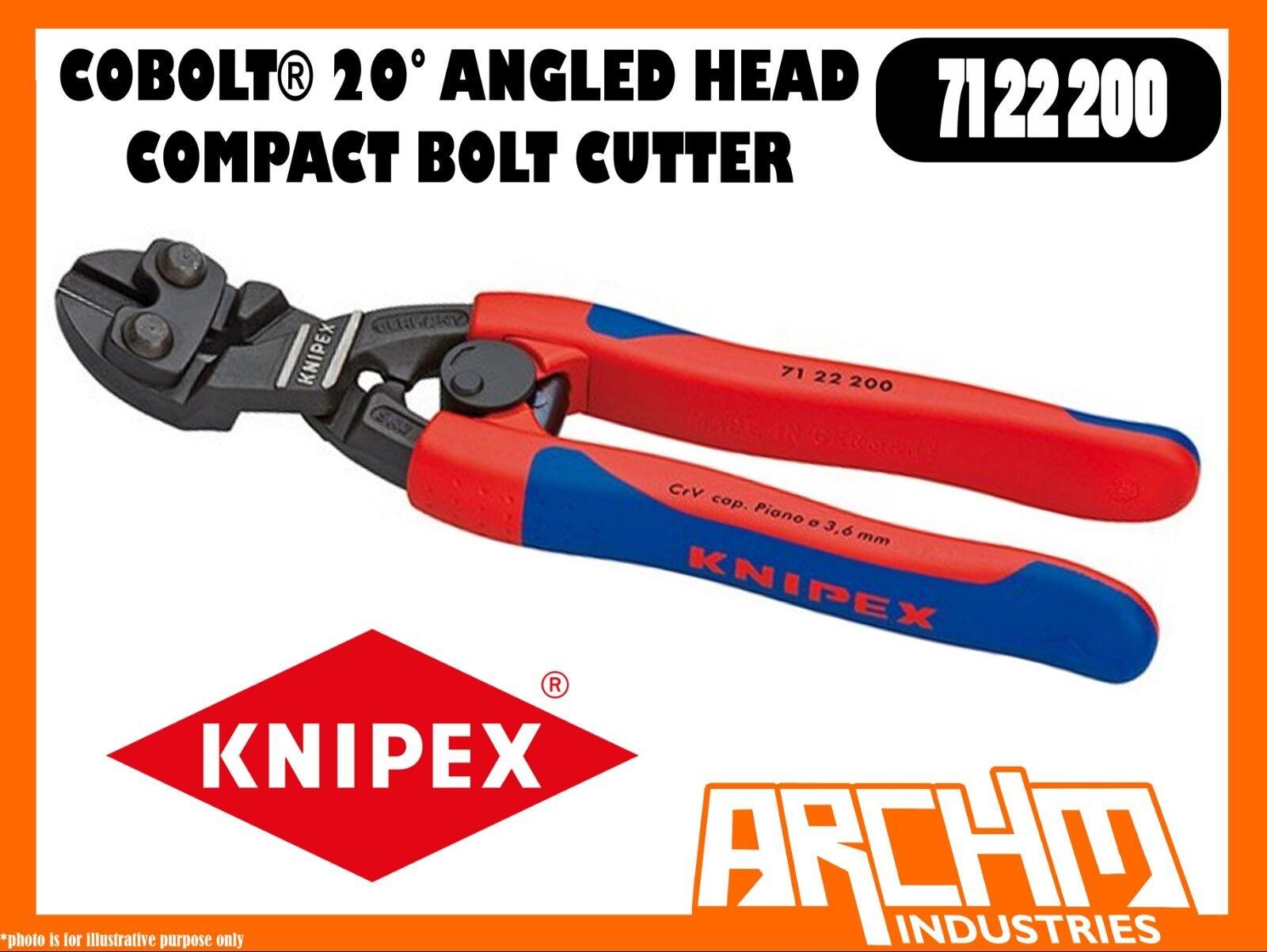 KNIPEX 7122200 - COBOLT® - COMPACT BOLT CUTTER 20° ANGLED HEAD - 200MM