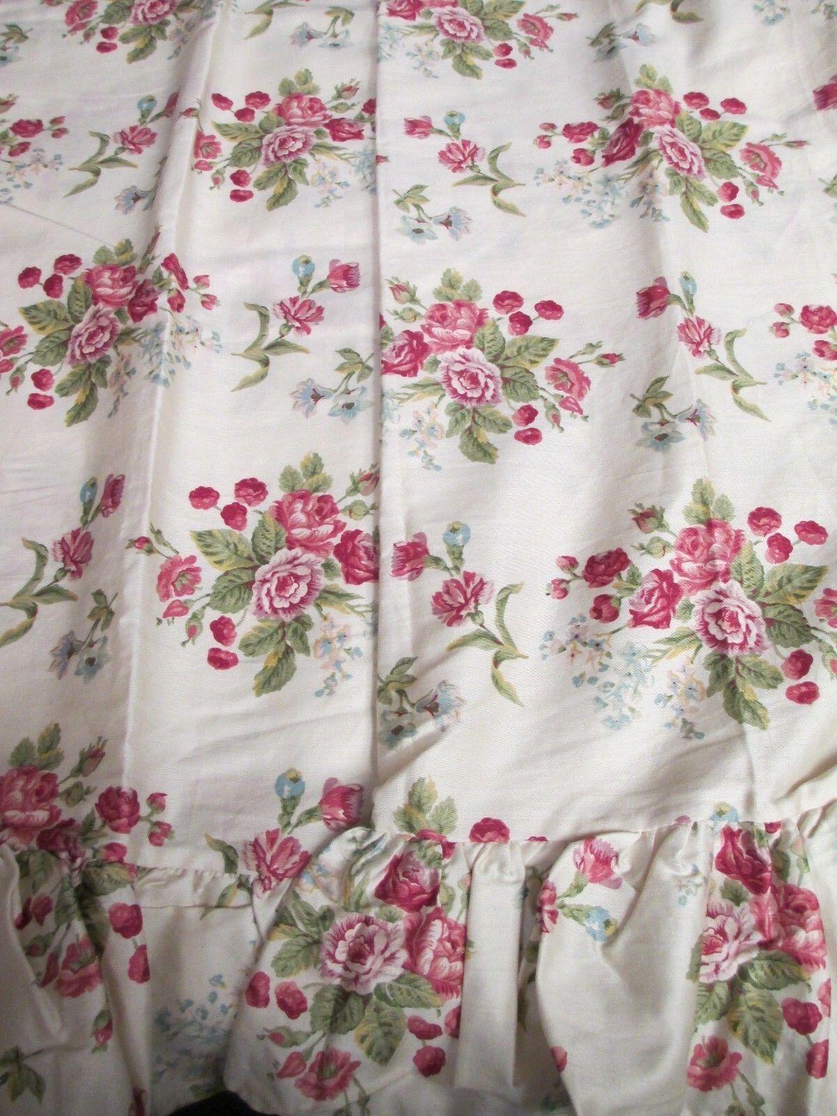 New RALPH LAUREN Emily Anne EmilyAnne 2 Floral Ruffled Standard Pillowcases