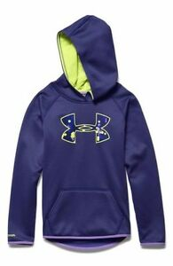 UNDER ARMOUR GIRLS FLEECE HOODIE SIZEYOUTH SMALL PURPLE COLOR