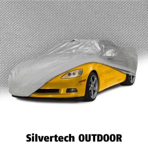 Silver 2005-2013 C6 Corvette 62086 Outdoor Silvertech All Weather Car Cover
