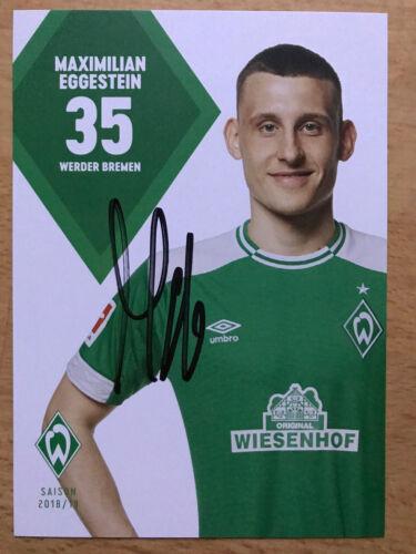 SV Werder Bremen Autogrammkarte 2018-19 original signiert 1 AK aussuchen