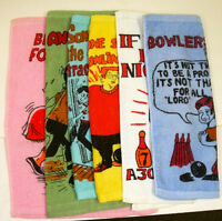 24 Each Color Bowling Towels, Bowlers Comic Crying Excuse 11x 15 6 Different