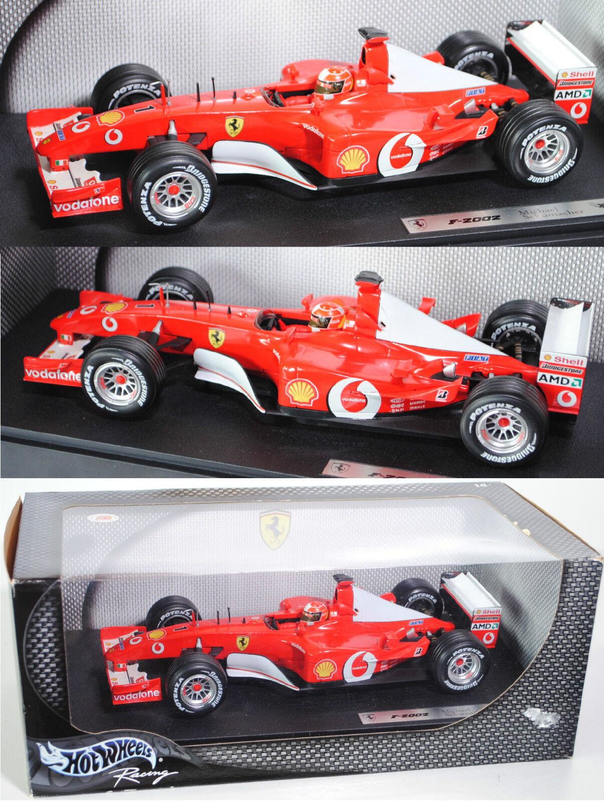 HOT WHEELS 54626 Ferrari f2002 Scuderia Ferrari Marlbor Michael Schumacher 1 18