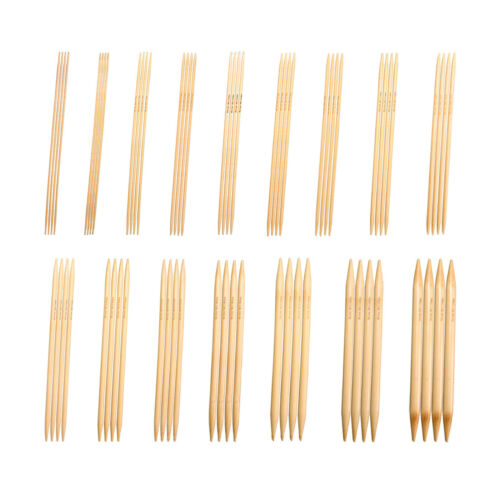 "Many Sizes Double Point Knitting Needles Bamboo 6/"" Bleached Knitzy ~15 cm"