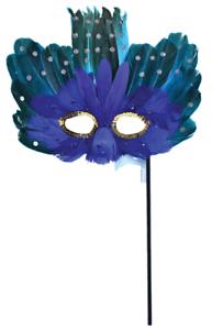 LADIES PEACOCK FEATHER Masquerade Bal Mardi Gras Carnival fancy dress eye mask