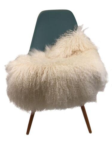 Premium verdadera tíbet schaffelle oveja fell cordero Mongolia blanco