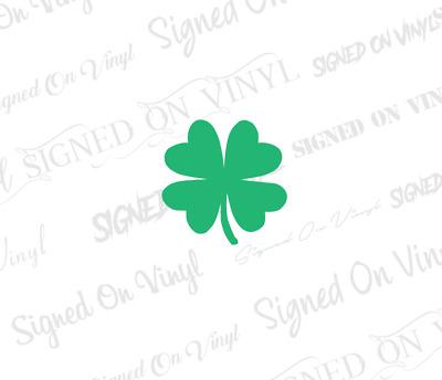Clover Vinyl Sticker Decal Irish Lucky Choose Size /& Color