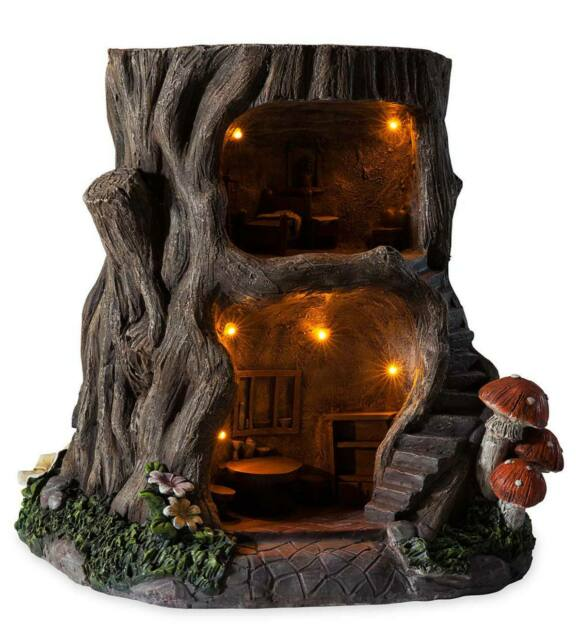 Miniature Dollhouse FAIRY GARDEN LED Leprechaun Hat House Accessories
