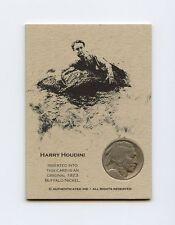 HARRY HOUDINI 1923 Nickel Variation RARE Coin Card