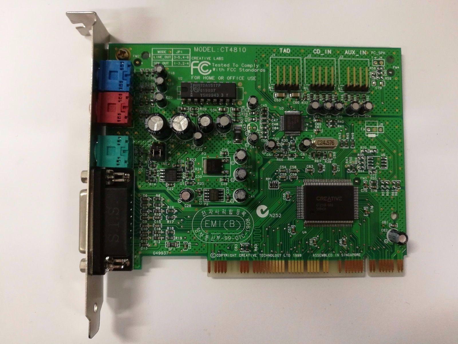 Creative Labs Sound Blaster CT4810 PCI Sound Card