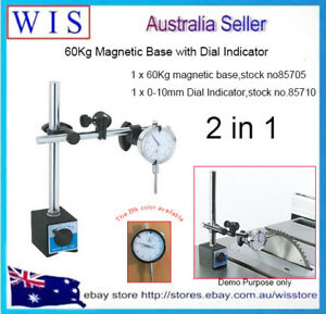 0-10mm Dial Indicator Gauge and Magnetic Base Holder Precise Measuring Tool Set