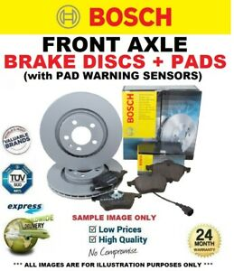 FRONT DISCS and PADS + SENSORS for MERCEDES SPRINTER Chassis 313 CDI 2006-2016