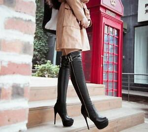 Womens-Over-The-Knee-Thigh-Platform-Boots-Stiletto-High-Heels-Shoes-Plus-Size